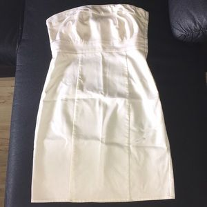 H&M White Strapless Dress Size 6 New w/o Tags